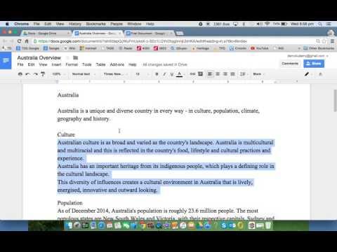Google Docs - Indents & Tabs