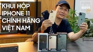 Khui hộp loạt iPhone 11 chính hãng Việt Nam: iPhone 11, iPhone 11 Pro, iPhone 11 Pro Max