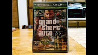 Grand Theft Auto IV Xbox 360 Platinum Hits Unboxing