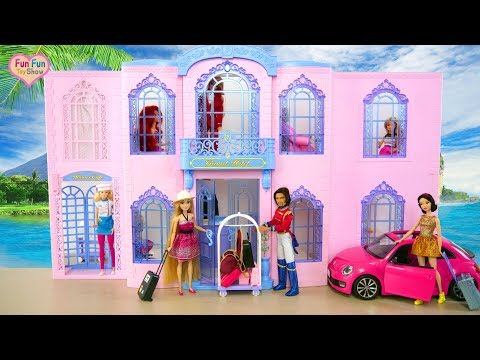 Barbie Grand Hotel Unboxing Review boneka Barbie Hotel mewah Boneca Barbie Grande Hotel