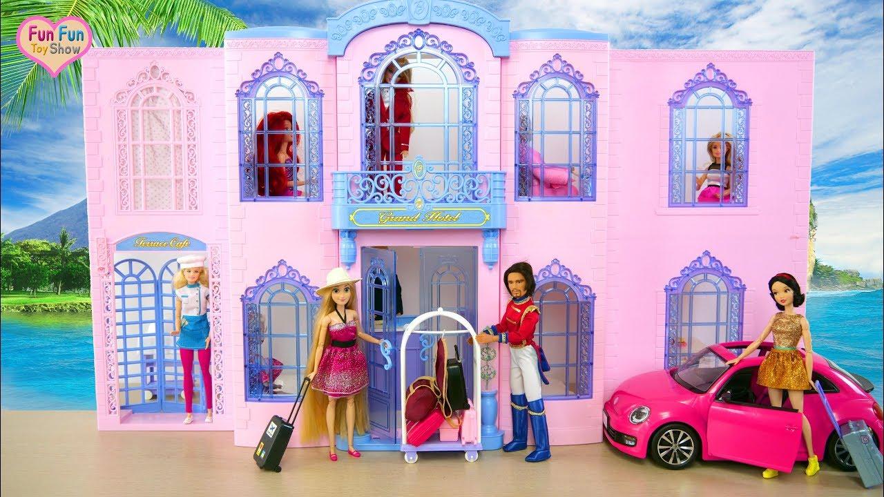 Barbie Grand Hotel Unboxing Review Boneka Barbie Hotel Mewah Boneca