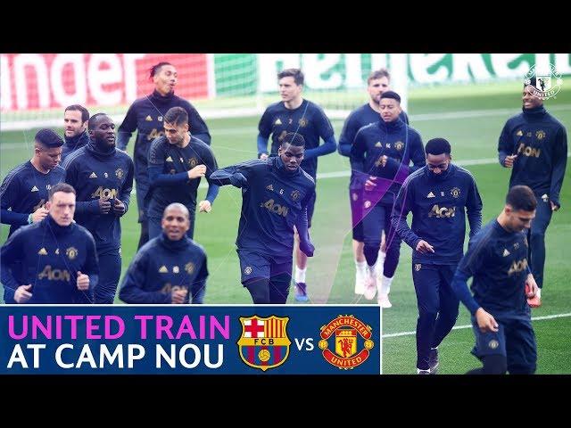 Manchester United train at Camp Nou   FC Barcelona v Manchester United   UEFA Champions League