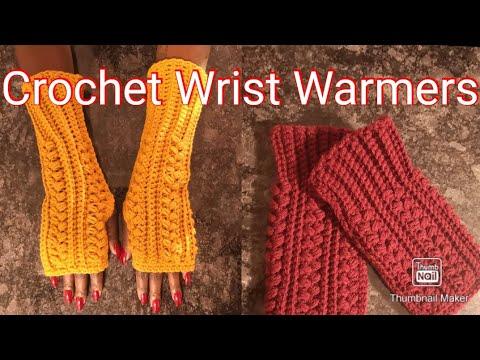 HOW TO CROCHET WRIST WARMERs - EASY  BEGINNERS TUTORIAL #simplyangeltiah #wristwarmers #subscribe