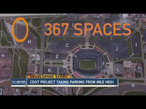 CDOT project taking parking from Mile High stadium