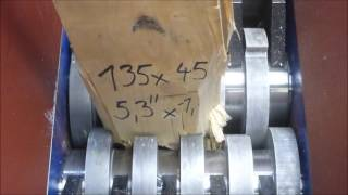 Shredding wood with FilaMaker FX10