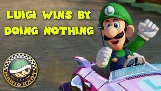 Mario Kart 8 Deluxe - Luigi wins a Cup by doing absolutely nothing