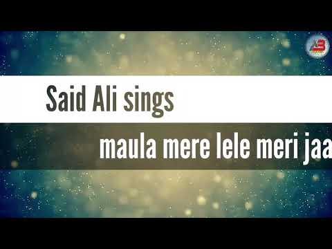 Moula Mere Le Le Meri Jaan Song. । Zaid Ali।