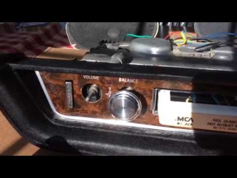 1968 to 1972 oldsmobile factory 8 track tape player demonstration