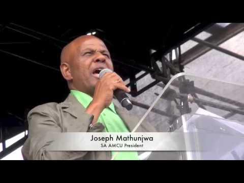 AMCU Pres Joseph Mathunjwa In South Africa Speaks In Marikiana At 5th Anniversary of Massacre