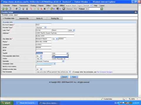 Planet DDS Dental Software Setup - Edit Provider