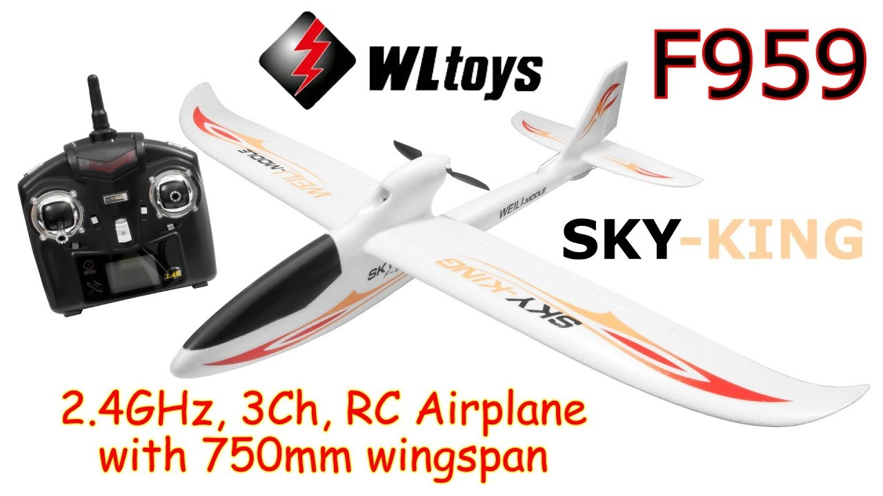 WLtoys F959 (SKY-KING) 2 4GHz, 3Ch, RC Airplane with 750mm wingspan (RTF)