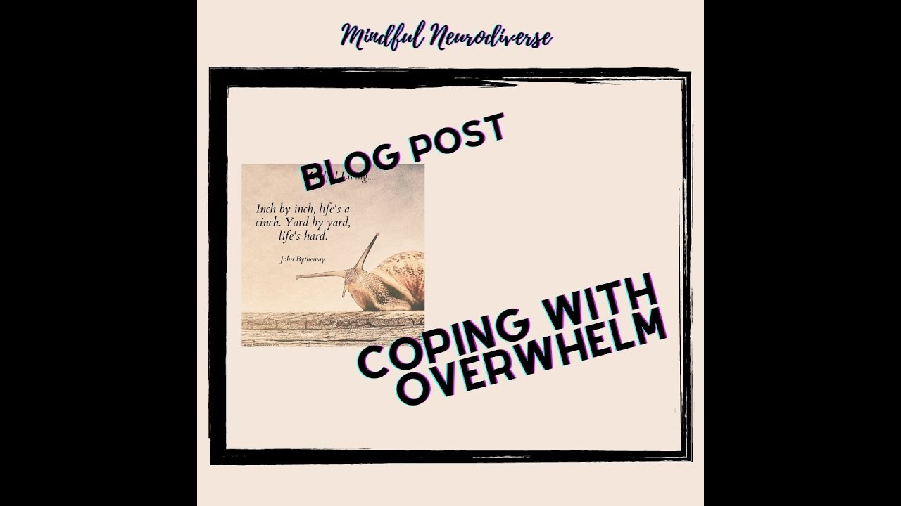 Video Blog: Simple Strategies for Coping with Overwhelm (Coping with Stress)