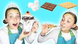 CHEF PRINCESS AVA HOW TO MAKE QUICK EASY DIY MUG CAKE CHOCOLATE SMORES MICROWAVE CAKE KIDS COOKING