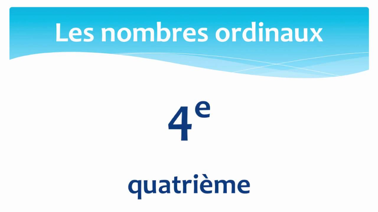 Connu Ordinal numbers in French 1st - 10th - Les nombres ordinaux en  QR56