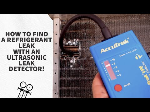 How To Find A Refrigerant Leak With An Ultrasonic Leak Detector!