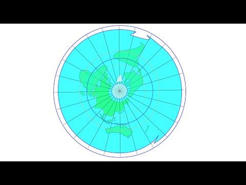 Making of a correct flat earth map thumbnail