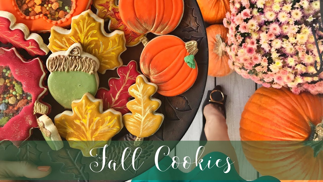 How To Decorate Fall Cookies - Celebrating Cookie Month