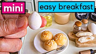 3 EASY BREAKFAST RECIPE   MINIATURE REAL FOOD COOKING   FULLY FUNCTIONAL MINIATURE KITCHEN