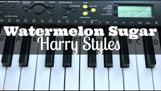 Watermelon Sugar - Harry Styles | Easy Keyboard Tutorial With Notes | Ad