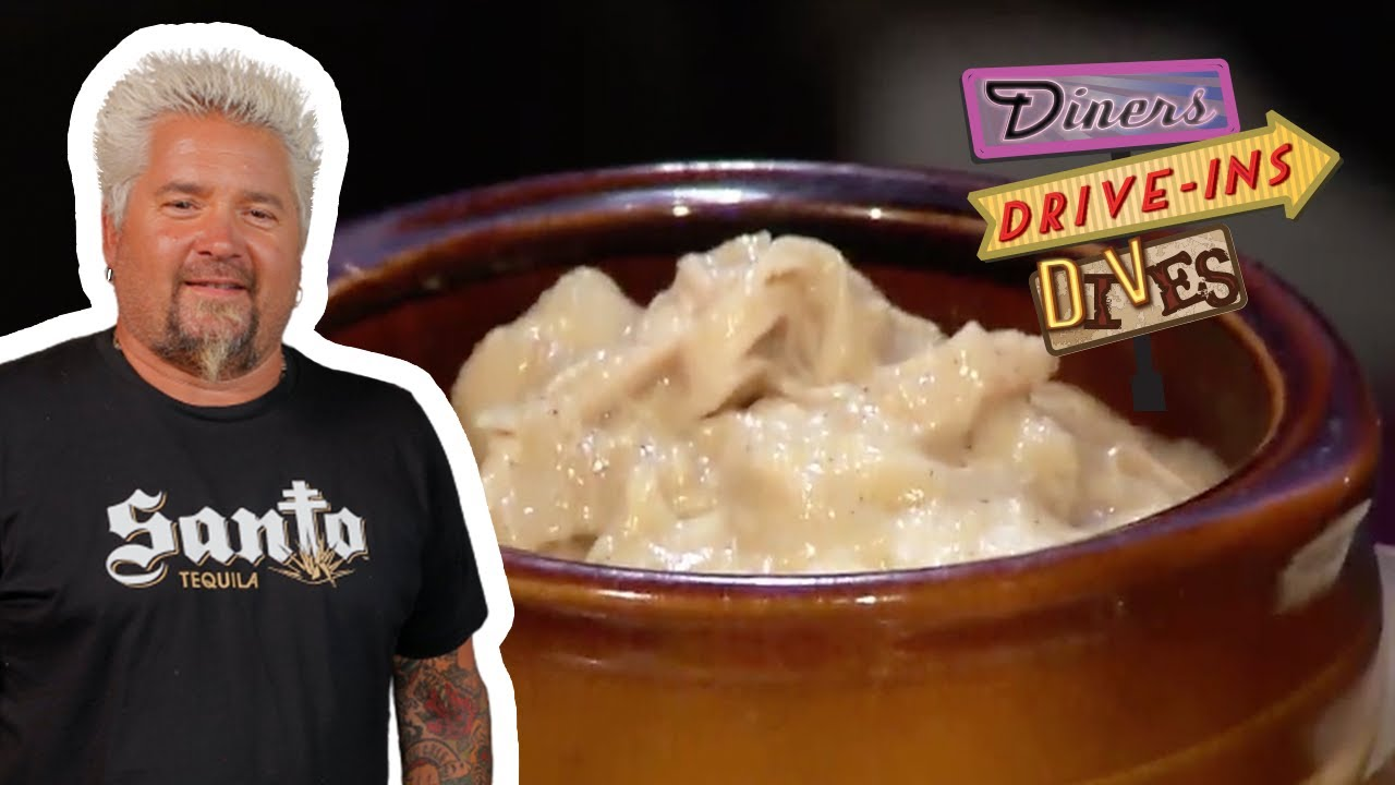 Guy Fieri Eats Old-School Chicken and Dumplings | Diners, Drive-Ins and Dives | Food Network