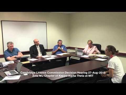 Zeta Mu, Casino Day Application, Cambridge License Commission, August 27, 2015
