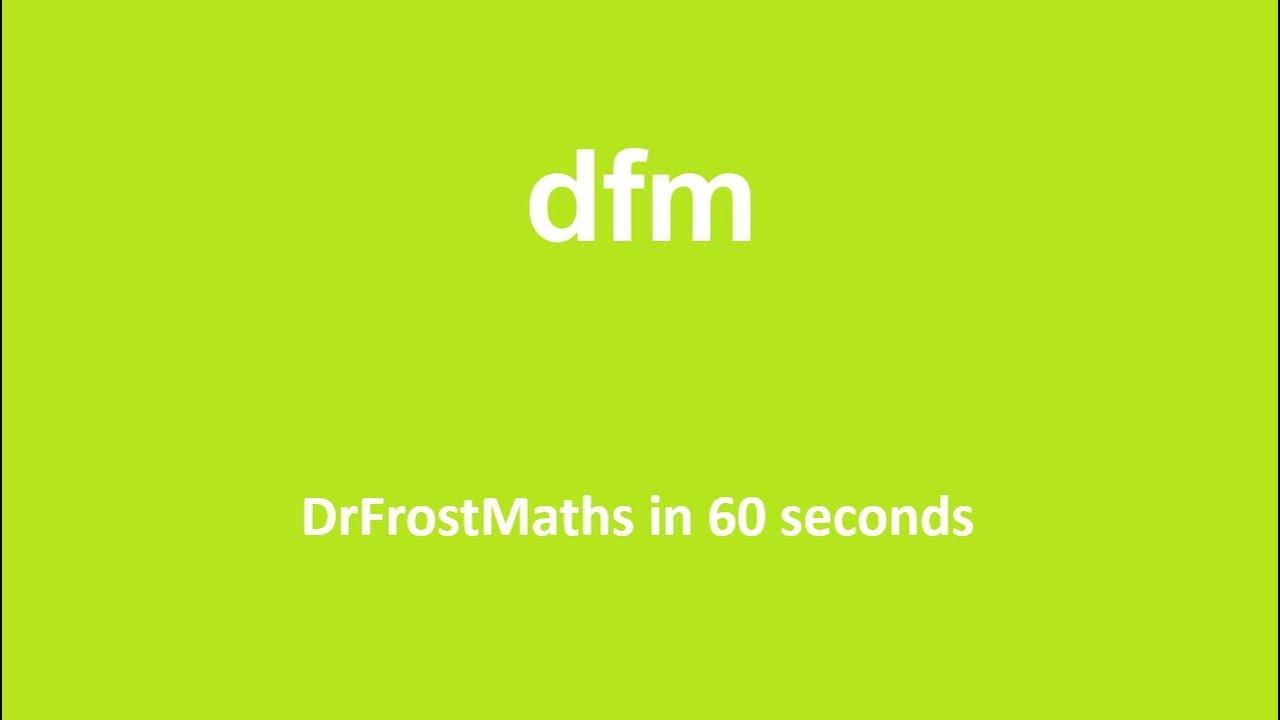 DrFrostMaths com