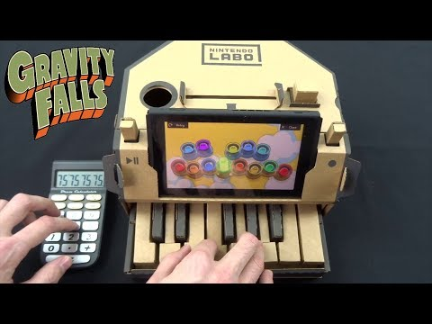 GRAVITY FALLS THEME BUT IT'S PLAYED ON THE NINTENDO LABO AND THE DRUM CALCULATOR