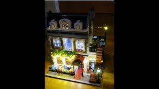 How to light up Lepin 15010 Creator Expert City Street Parisian Restaurant Model part2