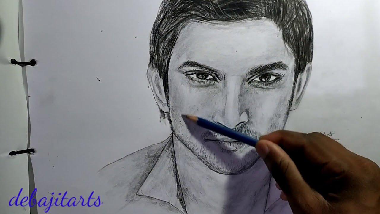 How to draw sushant singh rajput  sushant singh rajput rip ...