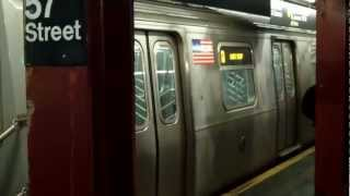 MTA FASTRACK:R160B Q Train@57th Street/6th Avenue
