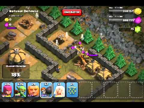 Clash of clans natural defense
