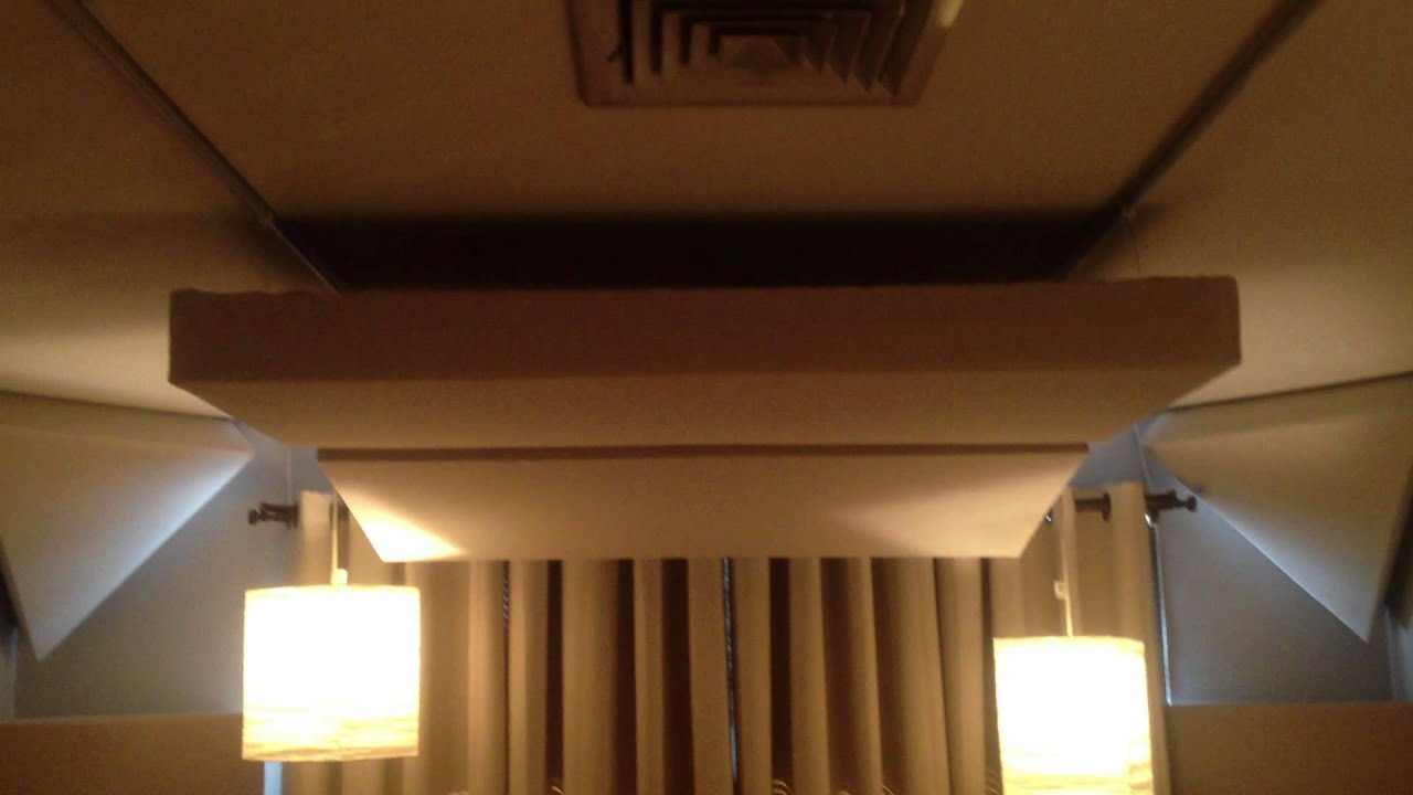 Diy acoustic treatment 6 youtube for Diy clouds ceiling
