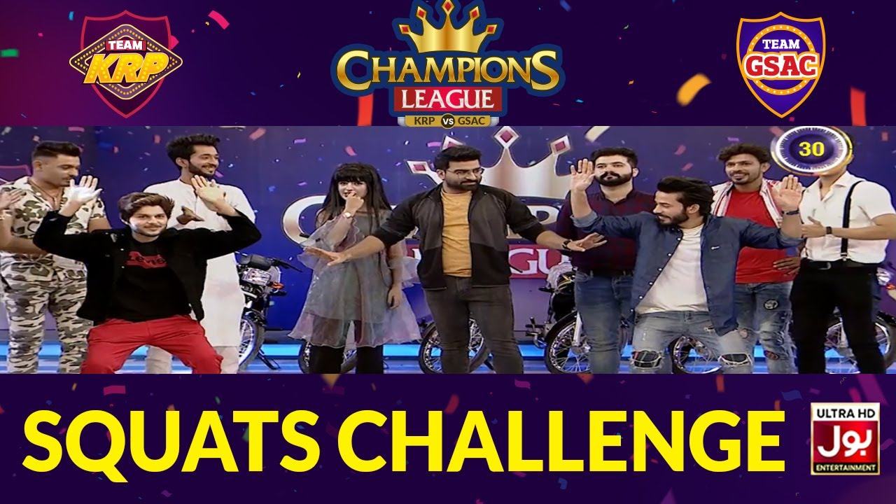 Squats Challenge | Champions League | Game Show Aisay Chalay Ga vs Khush Raho Pakistan