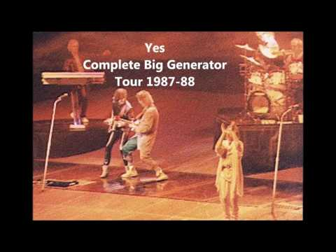 YES  - BIG GENERATOR COMPLETE TOUR 1987-1988