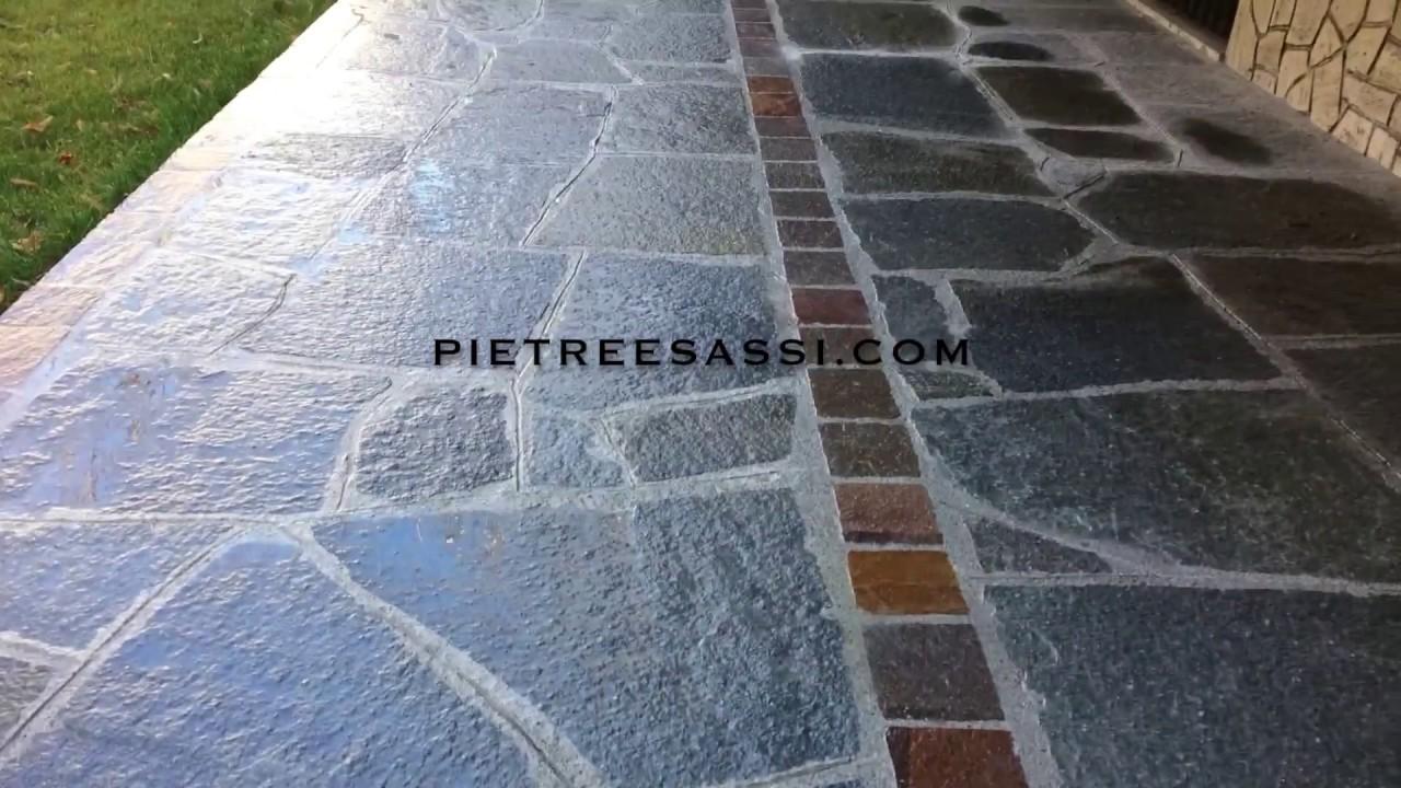 Pavimento In Pietra Di Luserna : Pietreesassi mosaico gigante di pietra di luserna youtube