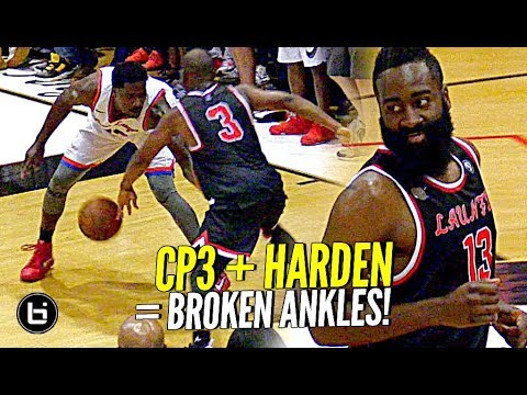 James Harden & Chris Paul TEAM UP at DREW LEAGUE & SHOW OUT w/ Dwyane Wade Watching!!