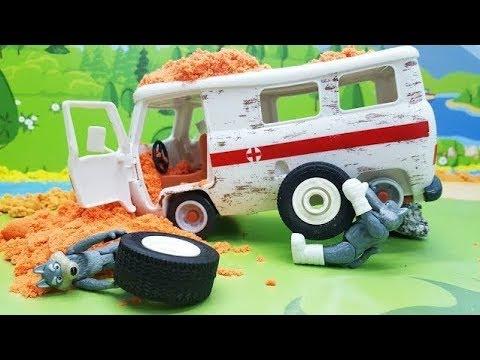 Мультики с игрушками для детей - Волки и колесо! Новые игрушечные видео #про машинки смотреть онлайн