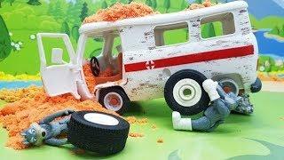 Мультики с игрушками для детей - Волки и колесо Новые игрушечные видео про машинки смотреть онлайн