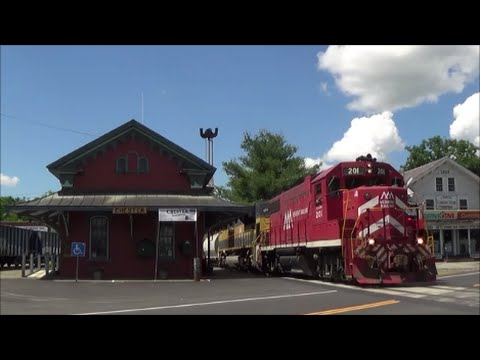 [HD] Chasing the Vermont Railway over the Green Mountains: 6/29/16