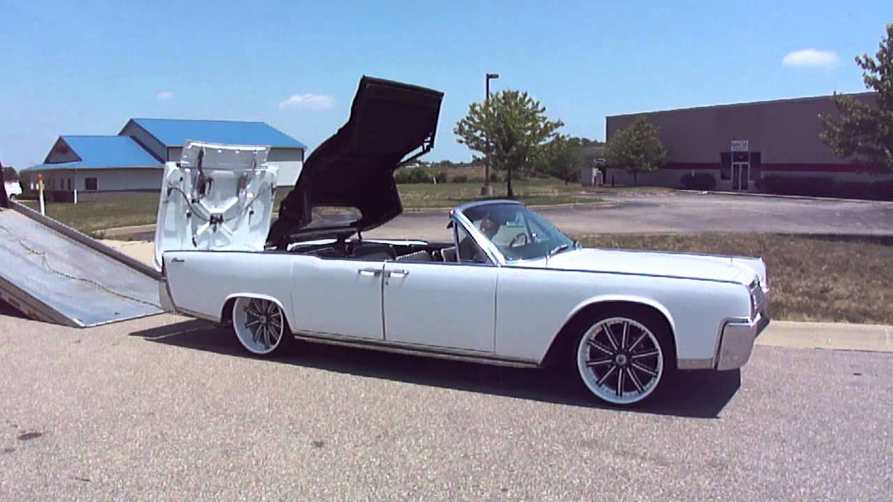 64 lincoln continental convertible white custom rims spade kreations youtube. Black Bedroom Furniture Sets. Home Design Ideas