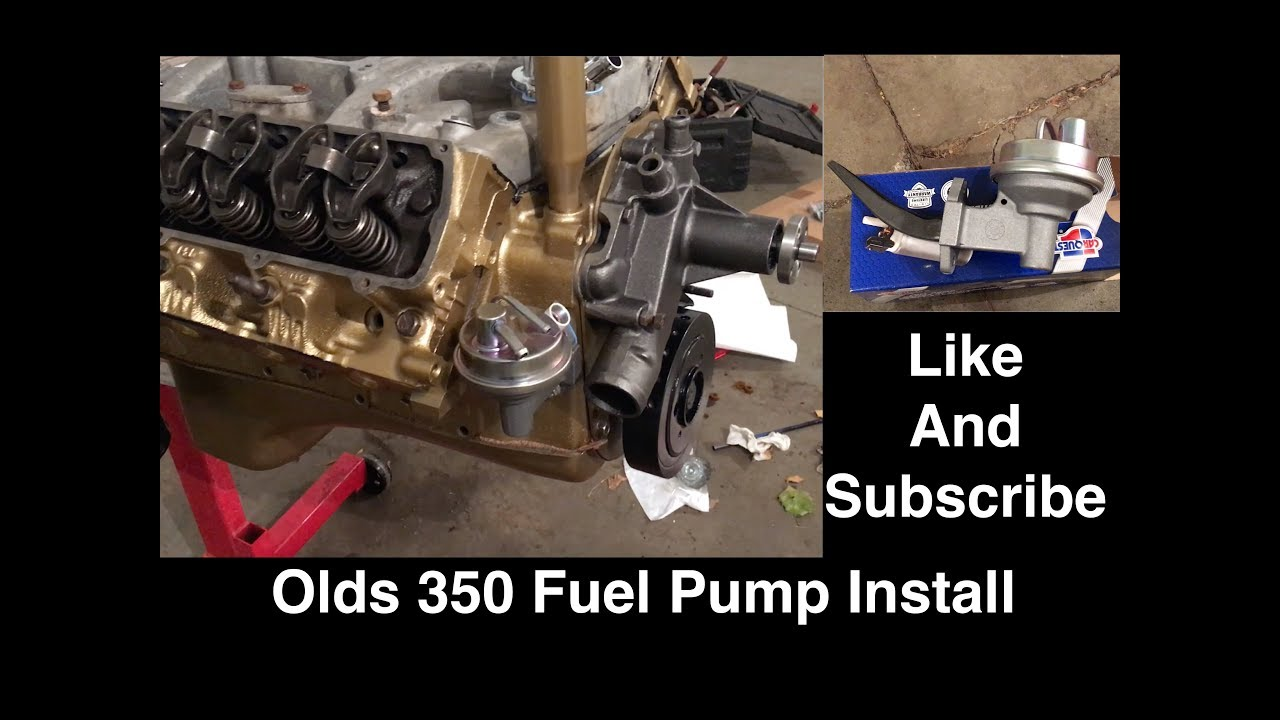 fuel pump installation on an oldsmobile 350 - cutlass