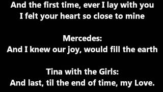 Glee - The first time I ever saw your face - lyrics