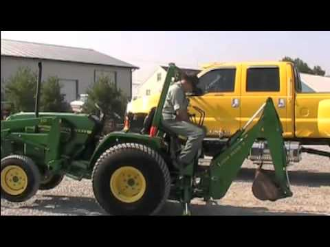 John Deere Backhoe Attachment >> JOHN DEERE 790 TRACTOR WITH LOADER AND BACKHOE - YouTube