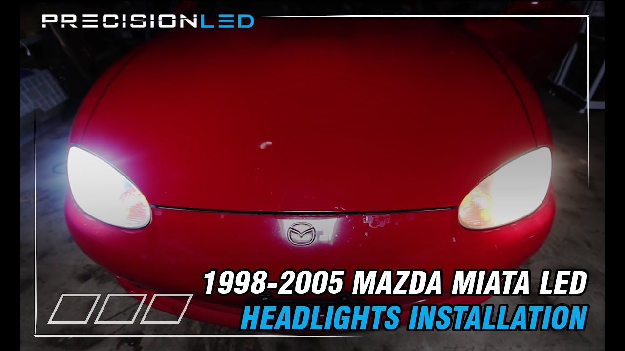 Mazda Miata Led Headlights How To Install Leds 2nd Gen 1998 2005 H4 Wiring Diagram H1s Mgroverorg Forums Youtube