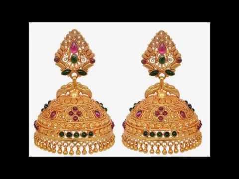 2cf0d80aef785 Beautiful Gold Jimikki Kammal Designs!!!