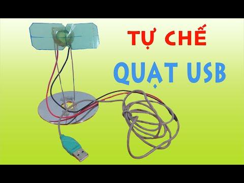 Tự Làm Quạt USB đơn giản từ vỏ chai nước, dây USB của chuột và chiếc mô tơ