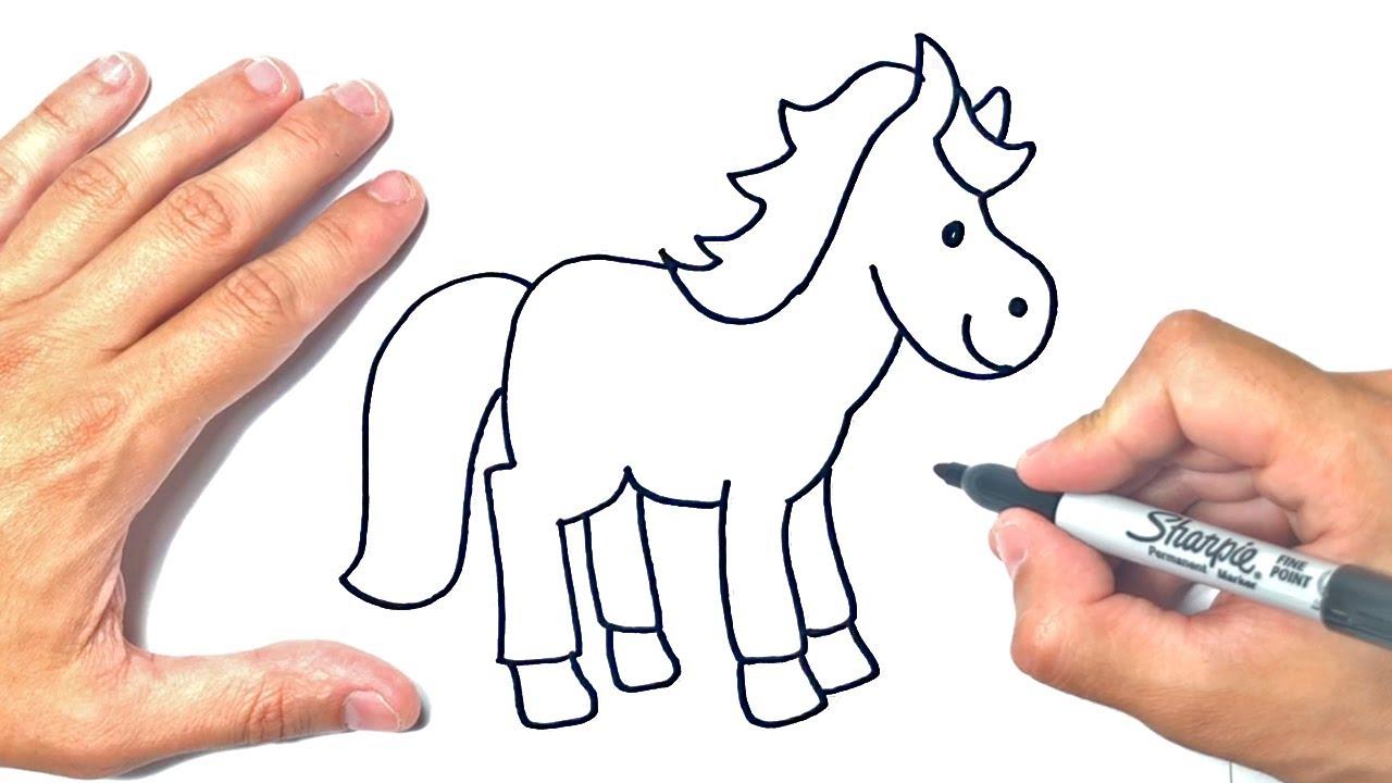 Cómo dibujar un Caballo Paso a Paso | Dibujo de Caballo