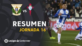 Resumen de CD Leganés vs RC Celta (3-2)