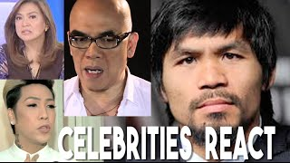 Celebrities React to Manny Pacquiao's views on Same Sex Marriage (Boy Abunda)