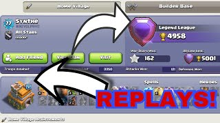 ATTACKS REPLAYS OF FIRST TOWN HALL 7 LEGEND LEAGUE PLAYER OF THE WORLD || CLASH OF CLANS ||
